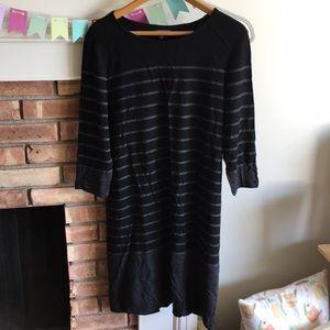 Hilary Radley grey/black jersey dress XL